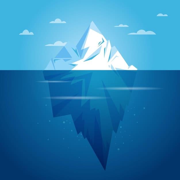 Illustration d'un iceberf